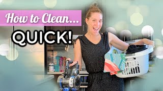 Sunday SPEED CLEAN - How To Express Clean Your Home!
