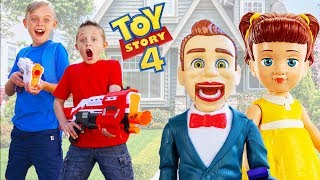 Toy Story 4 Toys Are Missing! Gabby Gabby & Bensen Plays Tricks on Kids Fun TV!