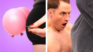 HIM vs HER! 12 Funny DIY Couples Pranks! Prank Wars By Crafty Panda