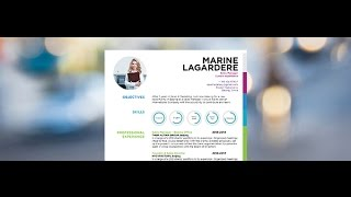 "Download resume ""Confident"" by Mycvfactory"