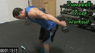 Intense 5 Minute Dumbbell Tricep Workout by Anabolic Aliens