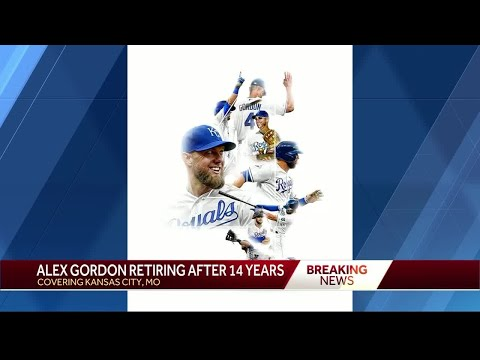 Kansas City Royals announce that Alex Gordon is retiring from baseball