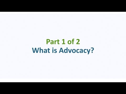 Advocacy 101 – Part 1: What is Advocacy?
