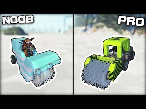 NOOB vs PRO Snow Removal Challenge! (Scrap Mechanic Gameplay)