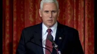 Click to play: Address by Congressman Michael R. Pence - Event Audio/Video
