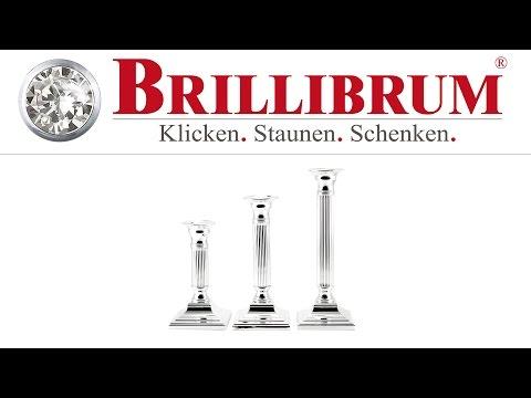 KERZENLEUCHTER VERSILBERT SILBER ECKIG KAUFEN | BRILLIBRUM ONLINE SHOP