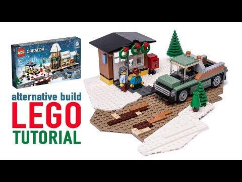 Winter Landscape MOC! - Lego MOC Review - смотреть онлайн на
