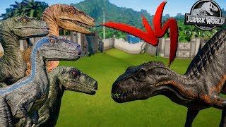 Delta, Echo, Charlie e Blue vs Indoraptor | Jurassic World Evolution | B. Jurássica [#19] | (PT/BR)