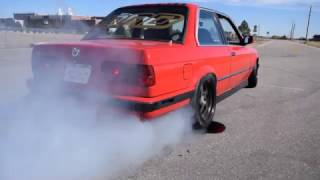 BMW E30 BURNOUT GONE WRONG (Snapped Axles)