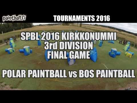 Polar Paintball vs BOS Paintball - Final Game - SPBL2016 Kirkkonummi