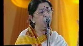 Lata Mangeshkar - Jo Wada Kiya (Live Performance) - YouTube