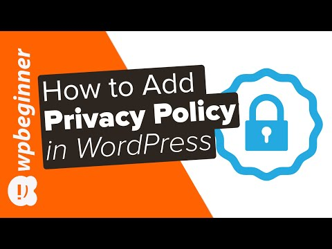 , title : 'How to Add a Privacy Policy in WordPress'