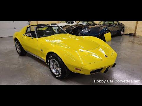 1975 Yellow Corvette 4spd Stingray For Sale Video