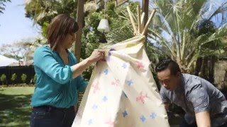 Youtube thumbnail for How to make a no-sew teepee