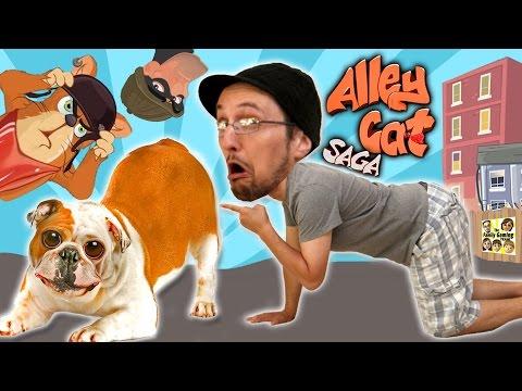 Don't Sniff the Dog Butts! Feline Fun w/ FGTEEV Duddy! (Lets Play ALLEY CAT SAGA) Yay, More Weirdy