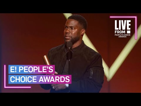 Kevin Hart Makes 1st Official Appearance Since Car Crash | E! People's Choice Awards (видео)