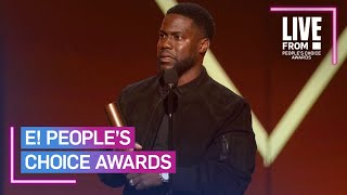 Kevin Hart Makes 1st Official Appearance Since Car Crash   E! People's Choice Awards