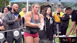 Worlds Strongest Woman Donna Moore Sets New Record For Ardblair Stones Challenge In Scotland 2019