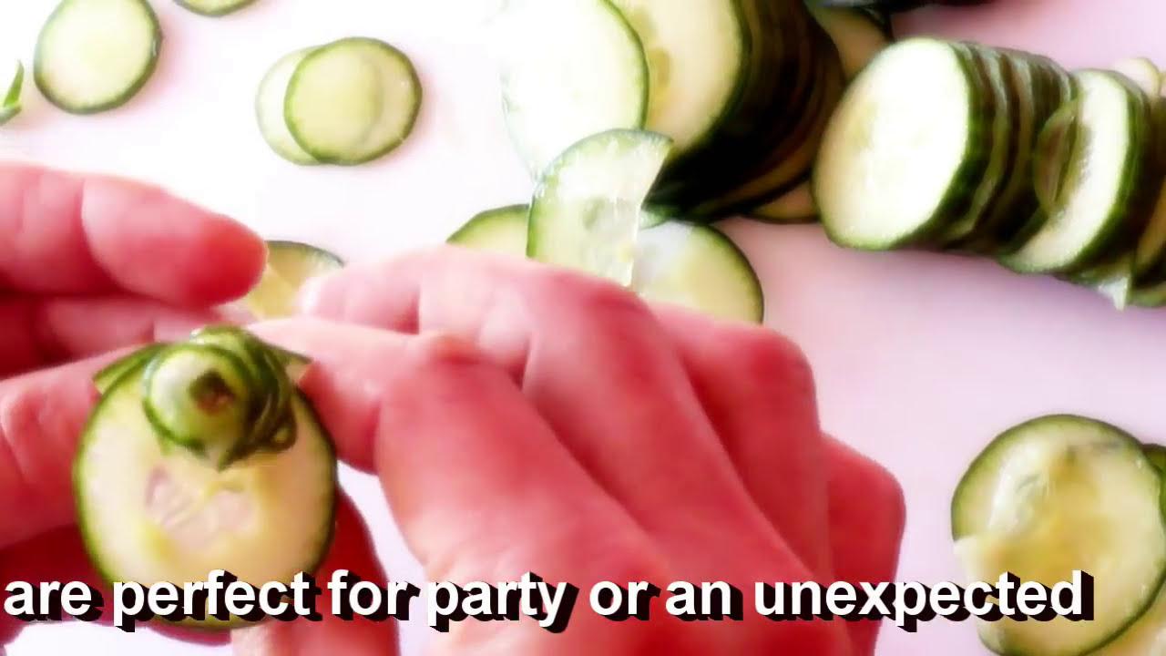 cucumber vegetable carving tutorial rose