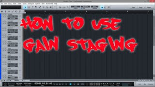 FIRST STEP TO A GREAT MIX | PRESONUS STUDIO ONE | URBAN MIX GAIN STAGE
