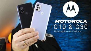 Motorola G10 / G30 I Unboxing & erster Eindruck I Was kann Motorola's Einsteiger Phones I deutsch