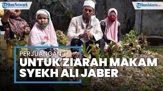 Demi Ziarah ke Makam Syekh Ali Jaber, Ismail Naik Motor dengan Istri dan 3 Anak dari Tanjung Periuk