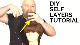 DIY Haircut - How To Layer Your Own Hair - TheSalonGuy