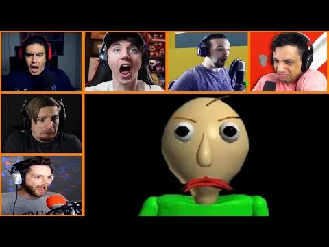 Let's Players Reaction To Making Baldi Angry | Baldi's Basics In Education And Learning