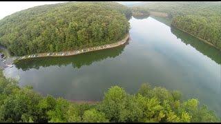 Drone Flight Over Tuscarora State Park Lake, Barnesville, 8-30-2015