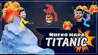 NUEVO MAPA TITANIC EN STICK FIGHT  (WILLY VS FARGAN VS VEGETTA)
