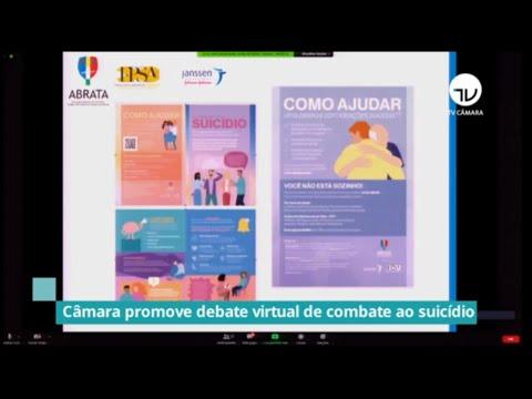 Câmara promove debate virtual de combate ao suicídio – 10/09/20