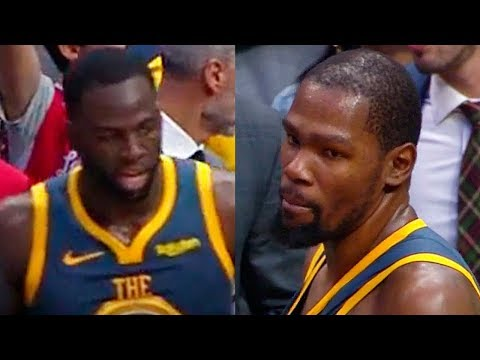 Kevin Durant Gets Angry at Draymond Green after the Last Play | November 12, 2018