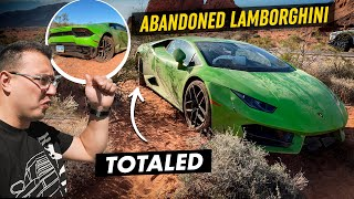 I FOUND An ABANDONED TOTALED LAMBORGHINI In The DESERT