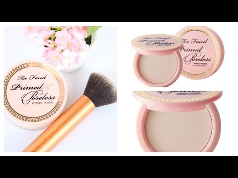 Too Faced Primed and Poreless Pressed Powder Review