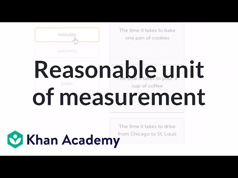 Finding reasonable unit of measurement example (video