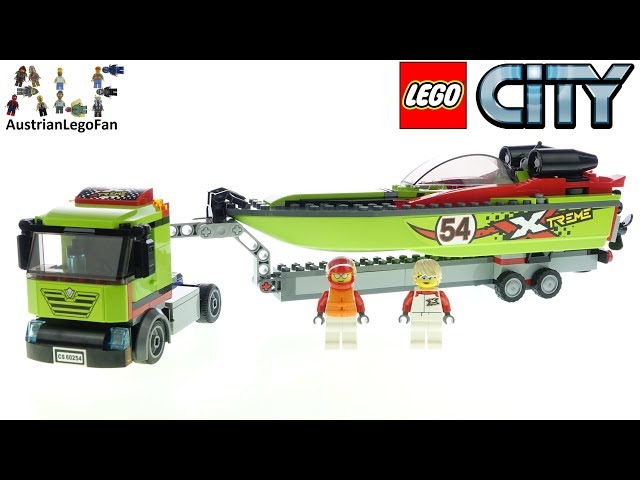 LEGO City 60254 Race Boat Transporter - Lego Speed Build Review