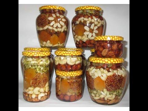 Орехи  с мёдом - Живая еда.