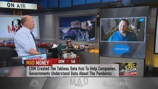 Marc Benioff talks Salesforce - AT&T deal, office health safety and online media regulation
