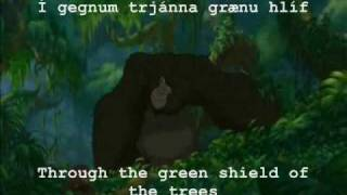 Tarzan (icelandic) Two worlds (subs/translation)