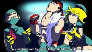 StarBomb Ryu vs Ken Rap battle ||  ENG LYRICS