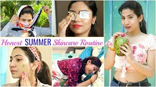"""Honest """"SUMMER"""" Skincare Routine - Day to Night Routine 