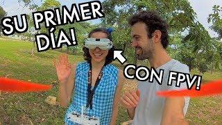 LLEGÓ EL DÍA! MI NOVIA EMPIEZA CON DRONES FPV!