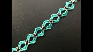 Diamond ♦️ DIY Beaded Bracelet ( ONE NEEDLE METHOD) .How To Make Beaded Bracelet 💞