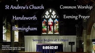 St Andrew's Handsworth – Evening Prayer – Wednesday 16th June 2021