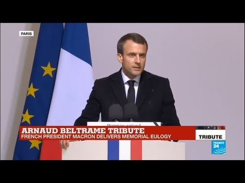France Shooting: Hero gendarme symbolises 'French spirit of resistance', says Macron