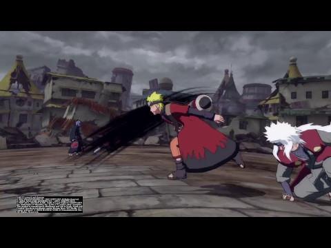 NARUTO Ultimate Ninja STORM 4 Naruto, Jiraya, and Kakashi vs Pain and Konan