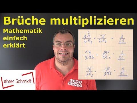 Cover: Brüche multiplizieren - Bruchrechnung - einfach erklärt   Lehrerschmidt - YouTube