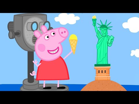 Peppa Pig Official Channel 🤩 New 🤩 Peppa Pig Visits America! | Peppa Pig's Holiday in the US
