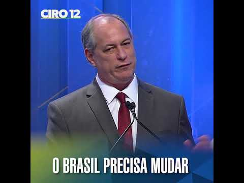 O Brasil precisa mudar com Ciro Gomes