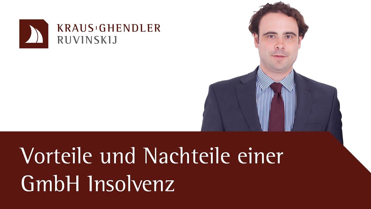 Vorteile und Nachteile einer GmbH Insolvenz